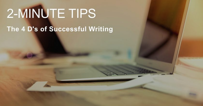 4 D's of Successful Writing