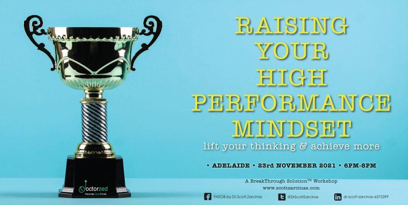 High performance mindset Nov21